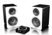Wharfedal Diamond A-1 Speakers-White Leather