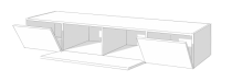 Spectral Lowboard With Flap 160Cm Wide
