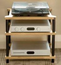 Hi-Fi Racks Omnium8 Stand - Oak & Black - Ex Display