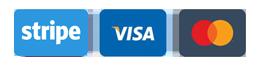 ayment by Stripe, VISA, MasterCard, Maestro, JCB